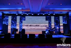 Blues & Purples | Creative event production by Envisions Entertainment Hawaii | Maui, Hawaii
