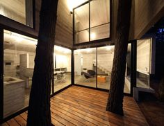 Love the tree's coming through the deck, and lots of windows.   Franz House / BAK Architects