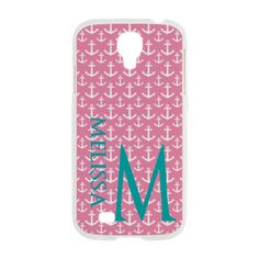 Anchors Pattern Personalize Samsung Galaxy S4 Case