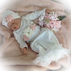 Newborn Girl Coming Home Outfit Newborn Girl Gown Go Home | Etsy