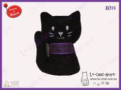 Gatito con collar. Hecho a mano. www.le-chat-noir.es #chatnoir https://www.facebook.com/pages/Le-Chat-Noir-Hecho-a-mano/113710975370328