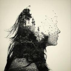 Dan Mountford captura assuntos distintos de uma forma bonita, e dá vida a novas imagens de forma surreal e única por meio da sobreposição analógica das imagens.