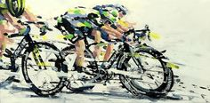 PAINTING LE TOUR: TDF 2016 stage 6 Cav Again!