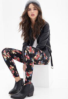 Leggings Estampado Floral - ver todas las ofertas - Mujer - 2000120153 - Forever 21 EU