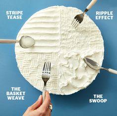 Decorar una tarta con una cuchara o un tenedor