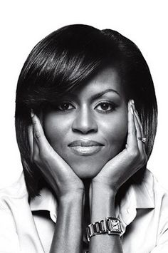 """Michelle LaVaughn Obama, avocate et première """"Première Dame"""" afro-américaine."""