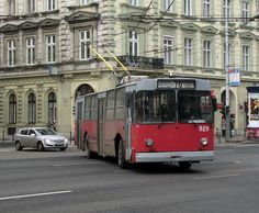 Old Soviet made Trolley Bus in Budapest
