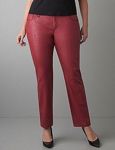 9cbe5fab1d1 NWT Seven7 Plus Size 20 Red Snake Print Skinny Jeans~ Lane Bryant~Animal~