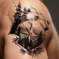 Grab your hot tattoo designs. Get access to thousands of tattoo designs and tattoo photos Tattoos Arm Mann, Arm Tattoos For Guys, Trendy Tattoos, Body Art Tattoos, New Tattoos, Compass Tattoos For Men, Tattoo Ink, Tattoo Sleeve Designs, Tattoo Designs Men