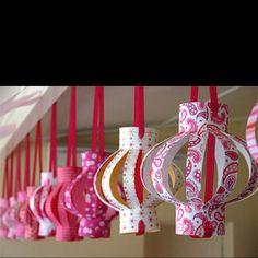Great party decor...paper lantern!  http://www.lucydylanweddings.com/2011/08/16/diy-paper-lanterns/