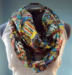 SuperCool SuperHero Comic Infinity Scarf by StyleGypsies on Etsy, $23.00