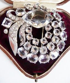 37315933e Eisenberg Original sterling silver fur pin by cherrylippedroses Diamond  Jewelry, Pink Jewelry, Rhinestone Jewelry