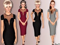 Formal Frock dress by Margeh75 - Sims 3 Downloads CC Caboodle