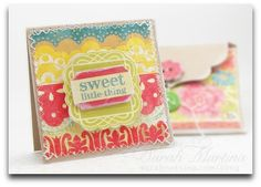 Envelope and mini card, detailed tutorial, from Create Paper Blog.