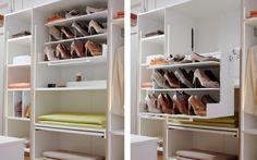 Garderob med fiffiga lösningar http://www.vallaste.se/sv/26-walk-in-garderober