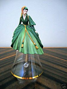 Scarlett Curtain Dress Bell from Franklin Mint. Possibly the most favorite bell I have.