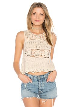 online shopping for ASTR Noelle Top from top store. See new offer for ASTR Noelle Top Crochet Tank Tops, Crochet Summer Tops, Crochet Shirt, Crochet Bikini, Knit Crochet, Crochet Fashion, Revolve Clothing, Top Pattern, Crochet Clothes