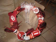 Razorback/OU Fan wreath