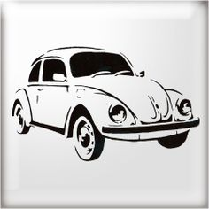 The Stencil Studio VW Beetle Car Reusable Stencil - A4 Size: Amazon.co.uk: Kitchen & Home