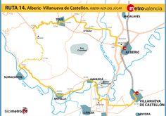 Metrovalencia - Bicimetro - Ribera alta de Júcar