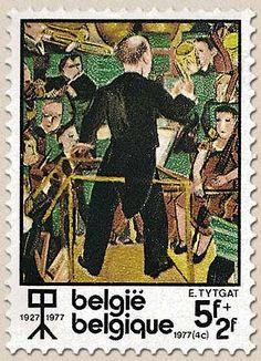 Belgian stamps Culture 'De grote musikale Pyramide - E. Tijtgat