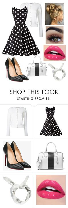 """""""American Horror Story: Freakshow"""" by derangedlife ❤ liked on Polyvore featuring Loveless, Christian Louboutin, MICHAEL Michael Kors and Boohoo"""