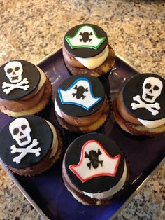 Pirate Themed Cupcakes  #tutuscupcakery Themed Cupcakes, Pirate Theme, Goodies, Sugar, Desserts, Food, Sweet Like Candy, Tailgate Desserts, Gummi Candy