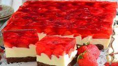 Erdbeerkuchen mit Mascarponecreme – Rezepte Strawberry cake with mascarpone cream – recipes Dessert Oreo, Cookie Desserts, No Bake Desserts, Polish Desserts, Polish Recipes, Strawberry Cakes, Strawberry Recipes, Strawberry Jelly, Easy Cake Recipes