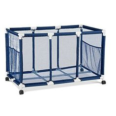 Modern Blue Pool Storage Bin   XX Large   Perfect Contemporary Nylon Mesh  Basket Organizer