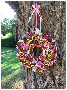 """Couronne Florale """"Lisa"""". Décoration, couronne porte d'entrée. Déco mariage : Accessoires de maison par perles-et-couronnes"""
