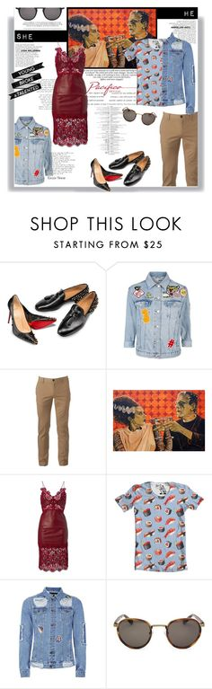"""Pacifica Optical: For they"" by railda-pereira ❤ liked on Polyvore featuring Christian Louboutin, Topshop, Urban Pipeline and Topman"