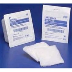 "Kerlix Sponge - Sterile 6"" x 6.75"" -   Box/50 (5 per pack x10). Prewashed, fluff-dried, woven gauze with crinkle-weave pattern and diamond-fold construction offers superior loft bulk and high absorbency. Absorbency strength and virtual lint-free performance ideal for pre-op prepping and cleansing, debriding, and packing. Exceeds USP Type VII gauze requirements."