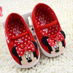 Caliente venta zapatos de las niñas Minnie Mouse nuevo Prewalker bebé recién nacido zapatos, Sapato bebé primera del caminante Shoes zapatos de bebé envío gratis(China (Mainland))