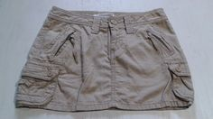 * Aeropostale AERO Mini Skirt Blue Tan/light brown Skirt Size 00 Cotton juniors #Aropostale #Mini