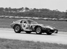 The Bondurant/Payne Daytona Coupe at Sebring, 1965. The car would finish 7th overall, 2nd in GT behind a team car.