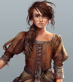 Arya Stark...Cat of the Canals.❤ it when a character Drawing is different from the tv show character.