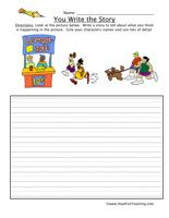 You Write the Story Worksheet - Have Fun Teaching
