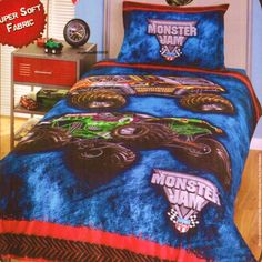 monster truck bedding for boys | fan of Monster Jam, this page features a large selection of Monster ...