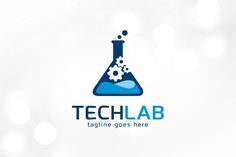 Tech Lab Logo Template by gunaonedesign on @creativemarket