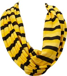 Amtal Stripes Infinity Scarf - Black & Yellow