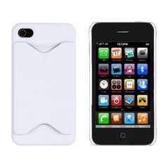 White Credit Card Case For Apple iPhone 4/4S US$2.59