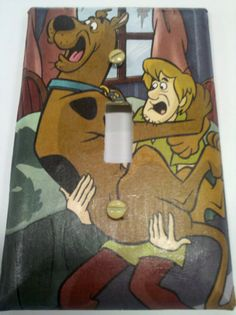 Scooby Doo light switch plate - for that flat!