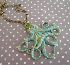 Collier octopuss  20000 lieues sous les mers  pieuvre Mimischkä