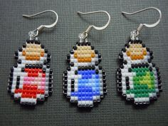 Tiny pixelated bottled and corked potion earrings! Potions are available in red, blue, or green! If you would like green or blue potion earrings just
