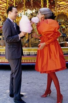 Christian Lacroix with his muse, Marie Seznec in 1987