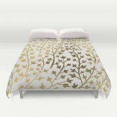 """Gold Ivy"" Duvet Cover by Cat Coquillette on Society6."