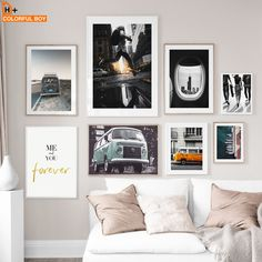 """""""Vintage Van Surf Board Beach Landscape Nordic Posters And Prints Wall Art Print Canvas Painting Wall Pictures For Living Room"""" Wall Pictures, Living Room Pictures, Canvas Pictures, Wall Art Prints, Canvas Prints, Surf Board, Beach Landscape, Living Room Paint, Vintage Wall Art"""