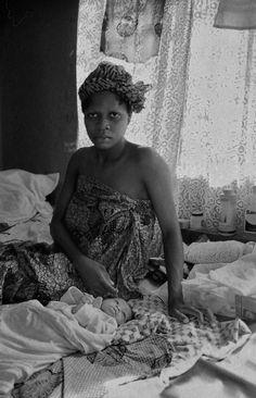 Tienermoeders - foto gemaakt in Accra, Ghana