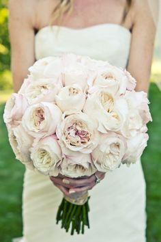 Vintage looking blush garden roses: http://www.stylemepretty.com/2015/06/18/the-23-prettiest-garden-rose-bouquets/