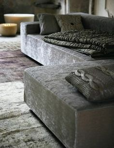 .couch and rug materials